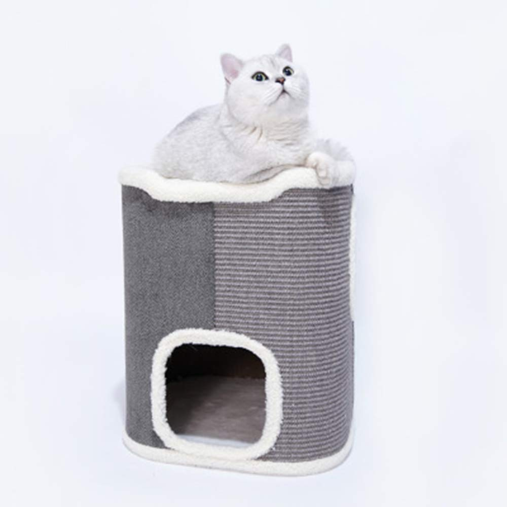 A Sisal Tube Cat Furniture,Cat Climbing Frame, Cat Nest,Cat Tree, Four Seasons Universal,Closed Luxury Pet Supplies