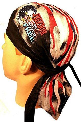 Deluxe Skull Cap (Danbanna Deluxe skull cap biker caps headwraps doo rags Freedom Eagle)