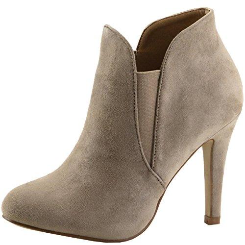 Bella Marie Women's Slip On Stiletto Heel Ankle Bootie on sale