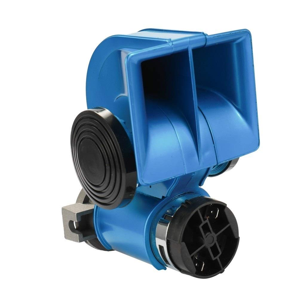 Auto Twin Dual Tone Compact Air Loud Horn 12V 150dB Compressor Truck Car Bus Van (Color : A1-1) by XIAOLAOBIAO