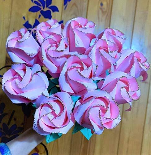 DIY Beautiful Origami Paper Rose Bouquet | Paper roses, Paper ... | 500x488