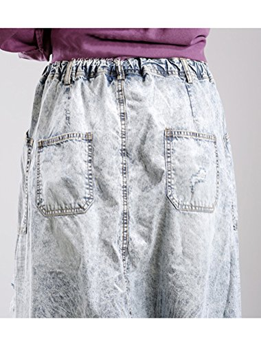 Vogstyle Mujeres Nueva Ripped Jeans moda colapso harén pantalones con bolsillos Style 3-Light Grey