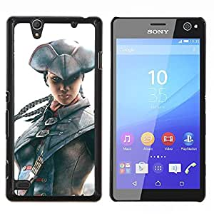 Pirata Assassin- Metal de aluminio y de plástico duro Caja del teléfono - Negro - Sony Xperia C4 E5303 E5306 E5353