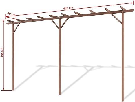 festnight pérgola de jardín WPC 400 x 40 x 195 cm) marrón, tamaño 400 x 40 x 195 cm: Amazon.es: Hogar