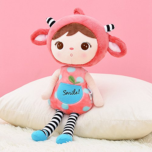 Me Too Keppel Stuffed Red Sheep Girl Baby Dolls Plush Toys 18 Inches by Me Too
