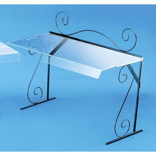 Cal-Mil 768 Glacier Portable Buffet Sneeze Guards, Acrylic, 12'' Length x 29.5'' Width x 18'' Height, Clear