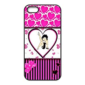 DIY Printed Betty Boop cover case For iPhone 5, 5S BM5800025