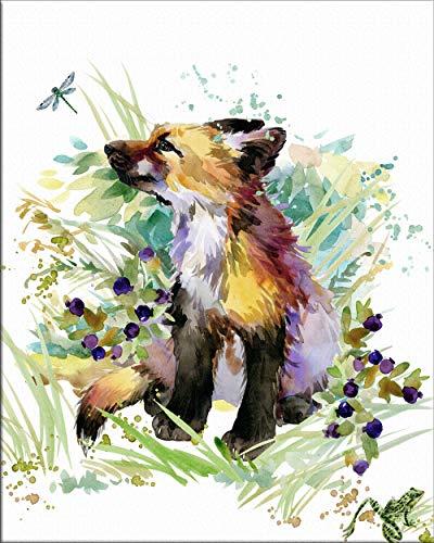 7Dots Art. Cute Baby Animals. Watercolor Art Print, Poster 8
