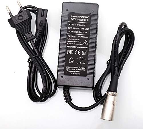 TANGSPOWER 24V 2A Acide de Plomb Chargeur de Batterie pour E-Bike Scooter électrique Voiturette Fauteuil Roulant Chargeur XLR 3 Broches Connecteur