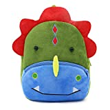 White Dolphin Cute Toddler Backpack,Cartoon Cute Animal Plush Backpack Toddler Mini School Bag for Kids Age 1-3 Years Old (dinosaur)