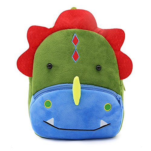 White Dolphin Cute Toddler Backpack,Cartoon Cute Animal Plush Backpack Toddler Mini School Bag for Kids Age 1-5 Years Old (dinosaur), Small