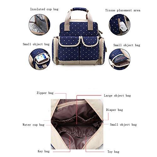 Beatsport - Bolso mochila  de Nylon para mujer Negro A-purple C-Blue