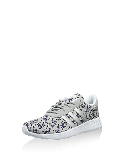 2018 sneakers wholesale sales authentic quality Adidas NEO Lite Racer, Baskets Basses Femme, Multicolore (Clear Onix/Matte  Silver/Light Orchid S15), 40 EU