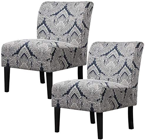 YAHEETECH Pack of 2 Cloth Sofa Armless Accent Chair Fabric Side Chair
