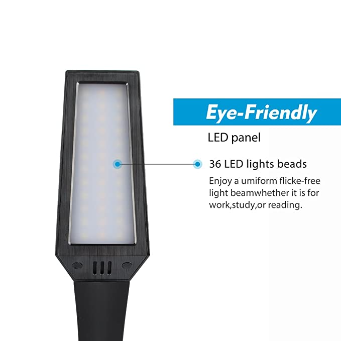 lepower desk lamp eye caring touch control led study lamps rh amazon com