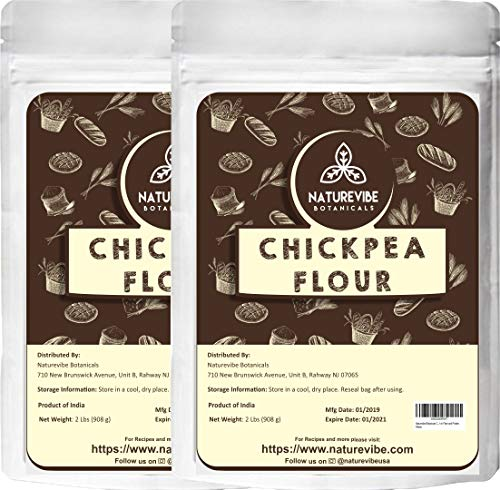 (Naturevibe Botanicals Chickpea Flour (4lbs) (2 unit of 2lbs each)   Gluten Free & Non GMO   Rich in Fiber and Protein [Packaging may Vary])