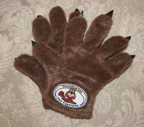 Plush Groundhog Paw Gloves To Keep You Warm On Groundhog Day  Handmade In S  M  L