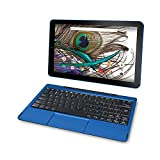 2018 Newest Premium High Performance RCA Viking Pro 10.1'' 2-in-1 Touchscreen Laptop Computer Tablet Quad-Core Processor 1G Memory 32GB Hard Drive Detachable-Keyboard Webcam Android 5.0 Lollipop-Blue