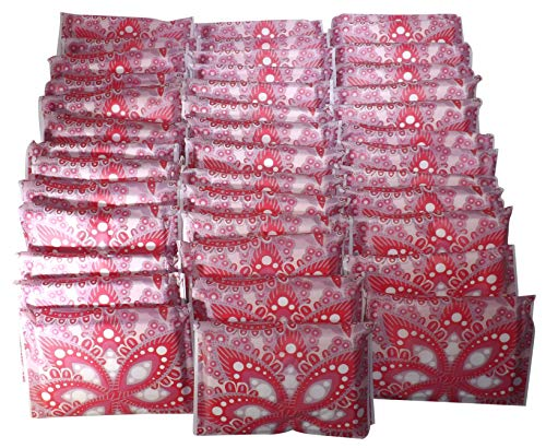 - Facial Tissues Wallet Size, 3-ply Pocket Pack Slim Format, Perfect Travel Size for Small Bag or Pockets, Unisex Red Paisley Design, 10 Soft Tissues Per Wallet Pack