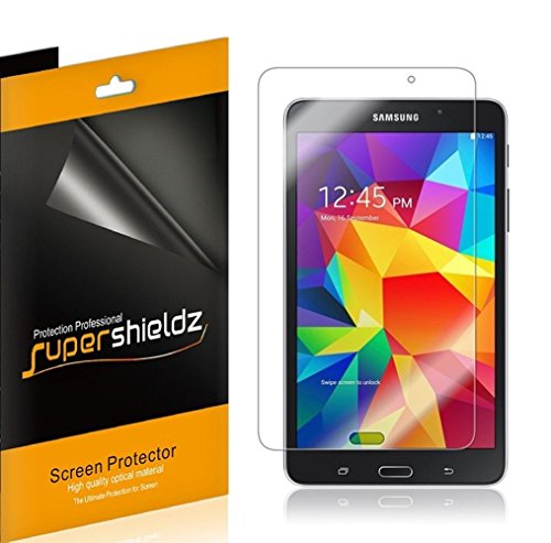 [3-Pack] Supershieldz- High Definition Clear Screen Protector for Samsung Galaxy Tab 4 7.0 inch + Lifetime Replacements Warranty