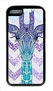 Andre-case Cute Fancy Giraffe Chevon Colorful Pattern Design for 5nKRJeZg8FL Iphone 5s for you case cover in TPU Rubber Black Material