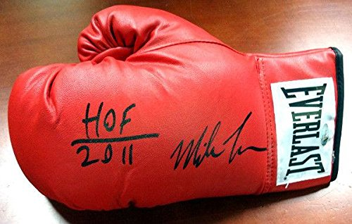 Mike Tyson Autographed Red Everlast Boxing Glove Hof 2011 Lh 73130 Tristar Productions Certified Autographed Boxing Gloves