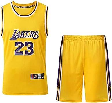 LinkLvoe Camiseta De Baloncesto para Hombre NBA, Lakers # 23 Lebron James, Camiseta De Manga De Secado RáPido, Si Eres Un Fiel Seguidor De Esta Camiseta, No Te Pierdas Esta Camisa L-5XL: