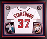 Stephen Strasburg Washington Nationals Autographed Deluxe Framed Majestic Replica Jersey - Fanatics Authentic Certified
