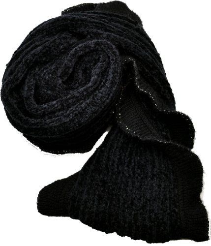 Charter Club Womens Infinity Chenille Scarf (Black) by Charter Club