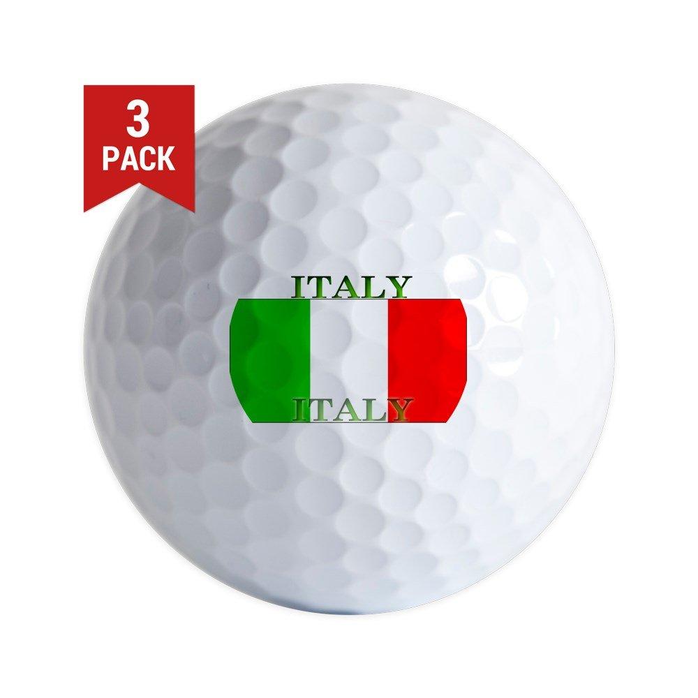 CafePress - Italy Italian Flag - Golf Balls (3-Pack), Unique Printed Golf Balls