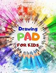 "Drawing Pad For Kids: Blank Paper Sketch Book for Drawing Practice, 110 Pages, 8.5"" x 11"" Large Sket"