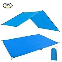 GEERTOP Zeltböden Schutzplane Zeltplanen Zeltunterlage Polyester 1-4 Personen Leichte Wasserdicht für Zelt Wanderungen Camping Picknick