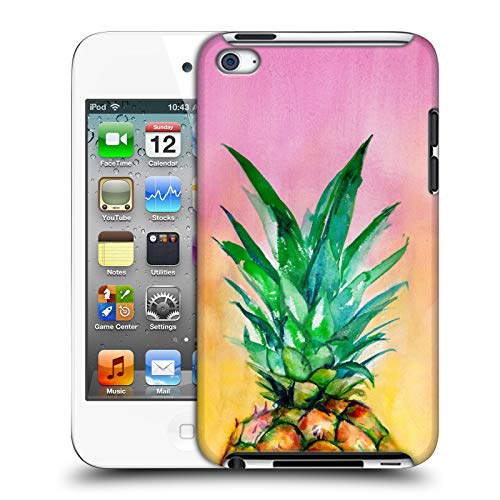 Official Mai Autumn Ombre Pineapple Paintings Hard Back Case Compatible for Apple iPod Touch 4G 4th Gen (Ipod 4 Gen Pineapple Case)