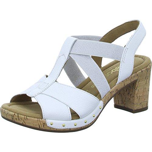 Gabor Sandalias de Vestir de Piel Lisa Para Mujer Weiß