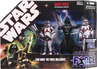 Collection Commemorative - Star Wars Saga 2008 The Force Unleashed Exclusive Commemorative Collection Darth Vader with Incinerator Troopers