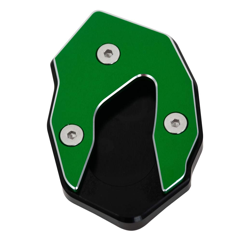 Motorcycle Side Stand Extension Plate Enlarger Pad CNC Aluminum Accessories for Kawasaki Versys 300//X250//X300 Black