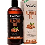 sweet almond oil organic 16 oz - 100% Pure Almond Oil - 16oz - For Skin Moisturizer, Wrinkles, Massage, Anti-Aging and Baby Oil - Cold-Pressed, Organic Carrier Oil.