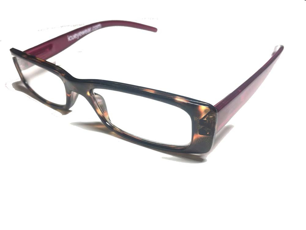 ICU Eyewear Reading Glasses - 7055 Modified Rect Tort (+1.00, Purole) by ICU Eyewear