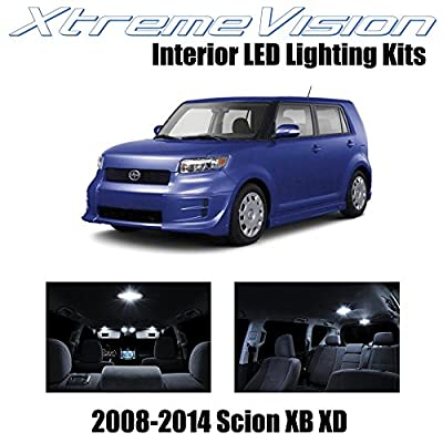 XtremeVision Interior LED for Scion XB XD 2008-2014 (12 Pieces) Pure White Interior LED Kit + Installation Tool: Automotive