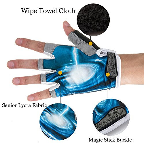 Ezyoutdoor Bike Full Finger Glove Riding Glove Breathable Unisex Reflex Outdoor Cycling Skiing Skateboard Shock Pads by ezyoutdoor (Image #3)