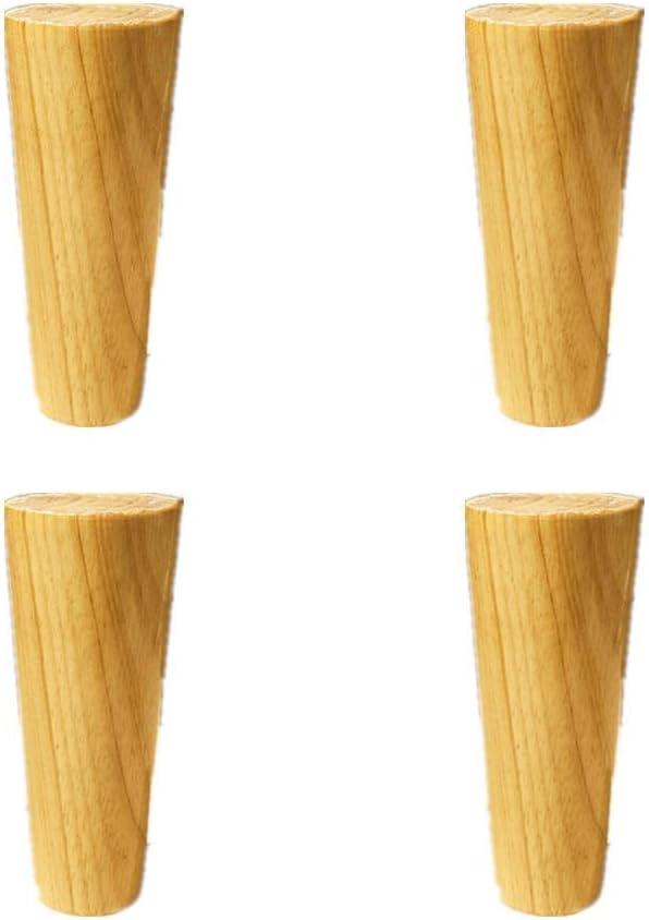 MWPO 4 Pack Oak Wood Furniture Feet,Sofa Legs,Kitchen Feet,Footstools, Bed Foot,Round Furniture Leg,Dresser Armchair Feet,Cabinets Leg,TV Desk Table Legs,Table Replacement Legs,40cm 30cm