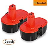 #4: Enegitech Upgraded Dewalt 18V XRP 3.6Ah Battery Replace DC9096 DC9096-2 DE9039 DE9095 DE9096 DE9098 DW9095 DW9096 DW9098 DE9503 18-Volt Batteries - 2 Pack