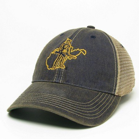 huge selection of 85b7b 7ed4a ... reduced west virginia mountaineers trucker style hat cap with  mountaineer logo and state background 67f60 3306c