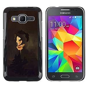 Be Good Phone Accessory // Dura Cáscara cubierta Protectora Caso Carcasa Funda de Protección para Samsung Galaxy Core Prime SM-G360 // Portrait Painting Art Face Self Reflection