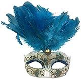 light blue mardi gras mask - Bauer Pacific Light Blue Mini Jordana Mask Mardi Gras Christmas Tree Ornament Decoration