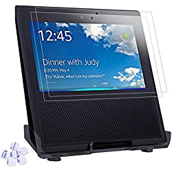 Speaker Stand And Screen Protectors for Amazon Echo Show, Rukoy Acrylic Speaker Stand Holder Protective Mount And Tempered Glass Screen Protectors for Amazon Echo Show