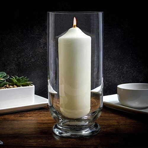 Id/éal pour la maison et les mariages D/écoration int/érieure /él/égante terrasse Bougeoir lanterne temp/ête en verre Grand ornement douragan clair M/&W