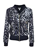 Product review for Anna-Kaci Womens Sequin Long Sleeve Front Zip Jacket with Ribbed Cuffs