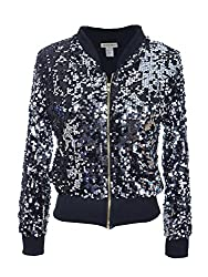 Women's Sequin Long Sleeve Jacket