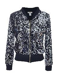 Women's Sequin Long Sleeve Jacket